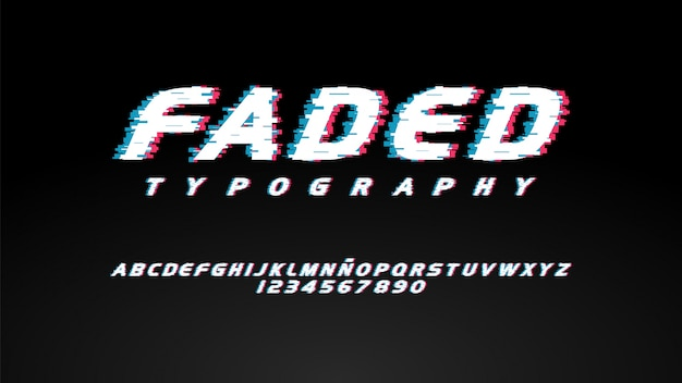 Modern typography with glitch effect