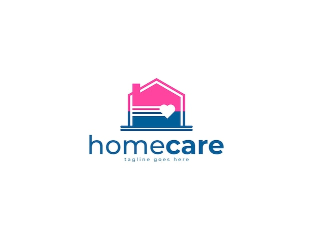 사랑 로고가 있는 현대적인 우브란 집 또는 집