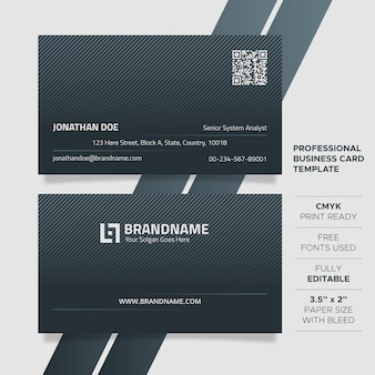 Modern unique business card template