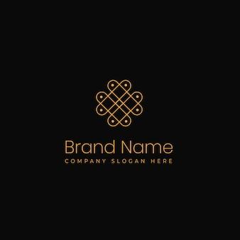 스파 아름다움과 보석에 적합한 현대적이고 독특한 우아한 로고 컨셉