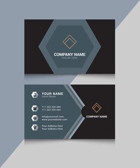 Современная уникальная элегантная профессиональная визитка premium векторы