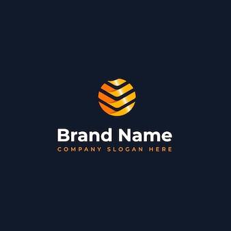 建設ジュエリーのイノベーション学習および情報技術ビジネスに適した、モダンでユニークなサンのロゴのコンセプト