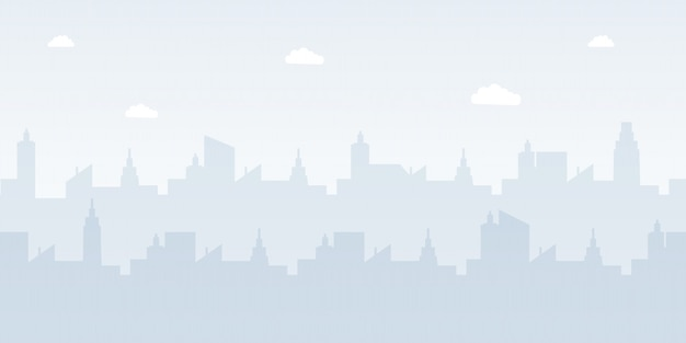 Modern urban landscape flat vector illustration