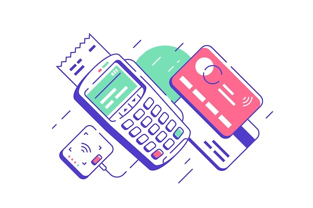 Modern urban terminal for contactless and wireless goods payment