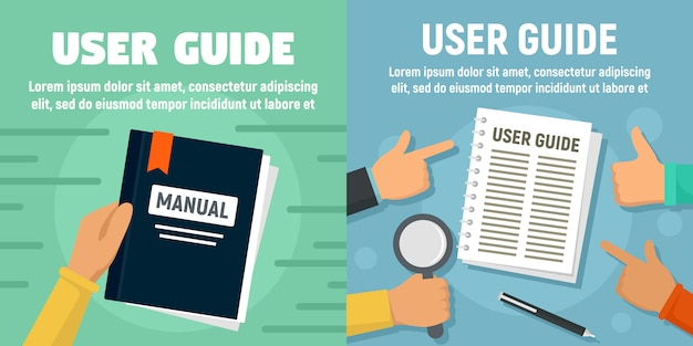 Modern user guide banner set