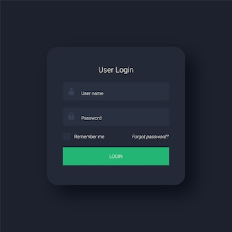 Modern user login interface