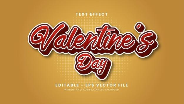 Modern valentine's day font effect