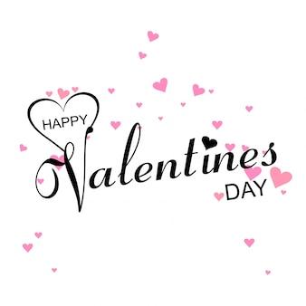 Modern valentine's day stylish text background