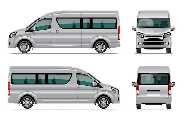 Современный фургон шаблон иллюстрации