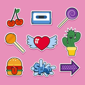 Modern variety of fun stickers