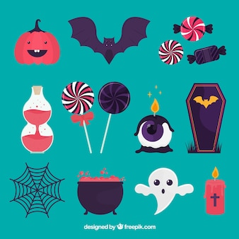 Modern variety of halloween elements