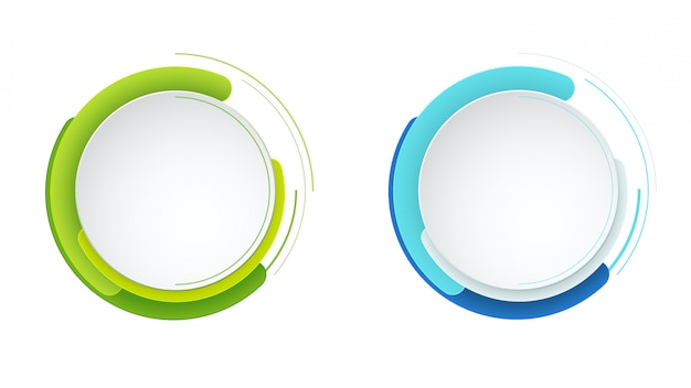 Modern vector abstract round element set.