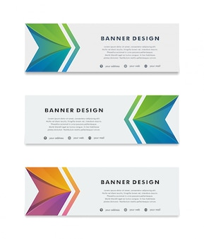 Modern vector banner web background abstract design template