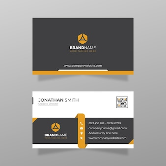 Modern vector business card visiting card for business and personal use vector illustration design