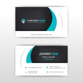 Modern vector double sided business card design