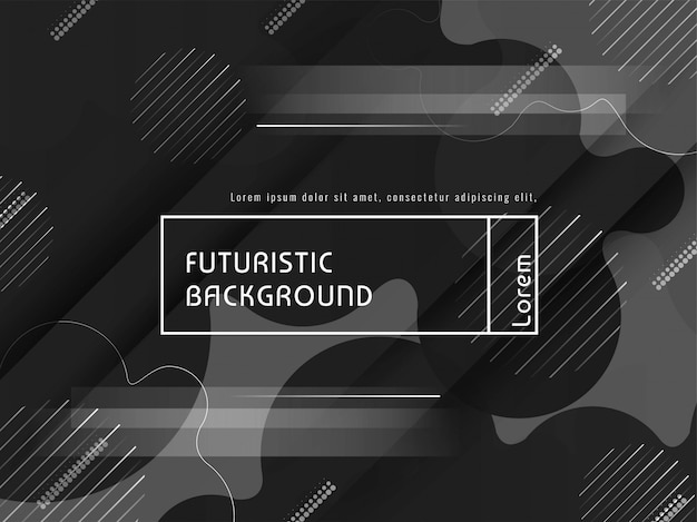 Modern vector futuristic grey background design