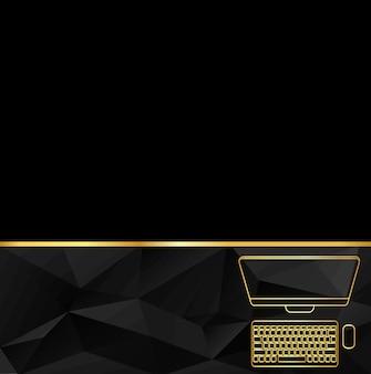 コンピューターの現代ベクトルイラストピクトグラム。