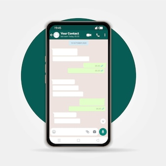 Modern vector mobile phone illustration in white background