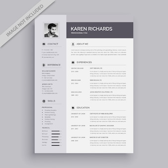 Modern vector resume template