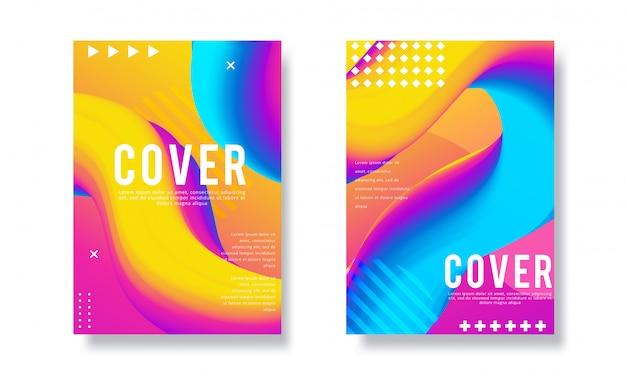 Modern vector template for brochure, leaflet, flyer, cover, catalog in a4 size