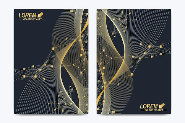 Modern vector template for brochure leaflet flyer cover catalog magazine or annual report in a size ...