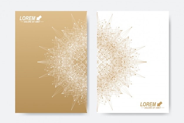 Modern vector template for brochure, leaflet, flyer, cover, magazine or annual report.