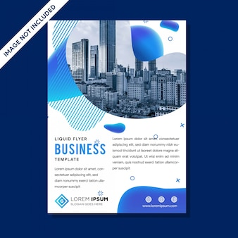Modern vector template for brochure