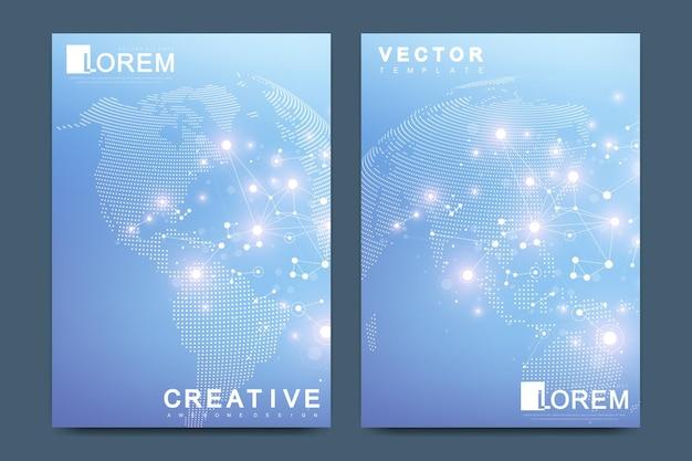 Современный векторный шаблон для брошюры leaflet