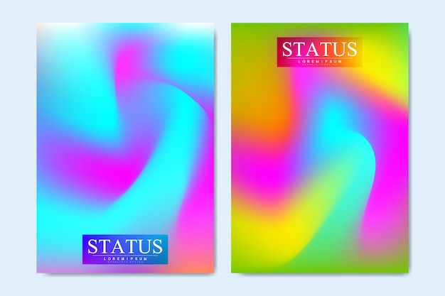 Modern vector templates for brochure, cover, flyer, annual report, leaflet. colorful geometric background. fluid shapes composition. eps10 vector.