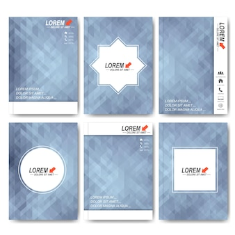 Modern vector templates for brochure, flyer, cover magazine or report in a4 size.