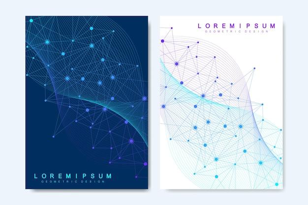 Современные векторные шаблоны для брошюры, обложки, баннера, флаера, годового отчета, листовки