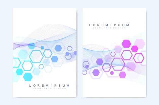 Современные векторные шаблоны для брошюры, обложки, флаера, годового отчета, листовки. Premium векторы