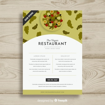 Modern vegetarian restaurant flyer template
