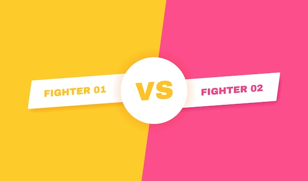현대 대 전투 배경. vs 전투 헤드 라인. 참가자, 선수 또는 팀 간의 경쟁. 삽화.