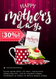 Modern vertical discount banner for mother's day