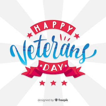 Modern veteran's day composition with flt design