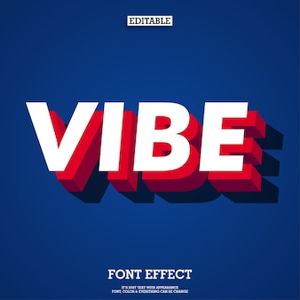 Modern vibe 3d font effect with shadow