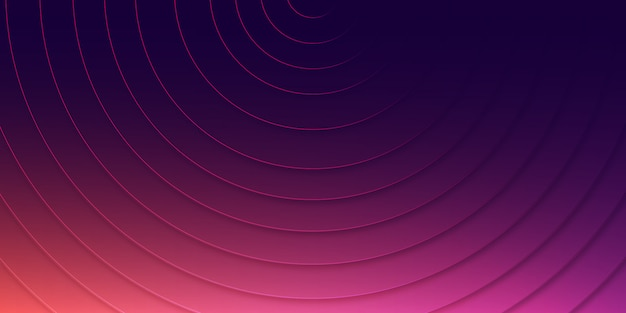 Modern vibrant 3d purple background with glowing lines