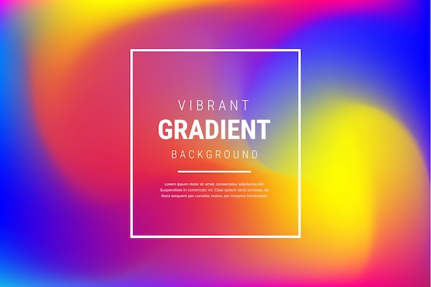 Modern vibrant blurred gradient effect background