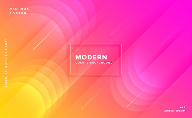 Modern vibrant bright pink and yellow colorful background