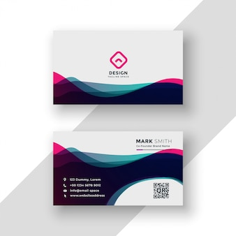 Modern vibrant business card template