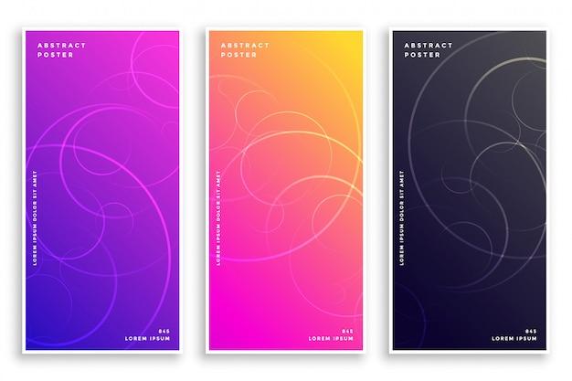 Modern vibrant elegant banner set