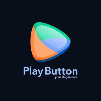 Modern video play button design vector
