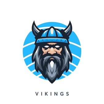 Modern vikings logo design template
