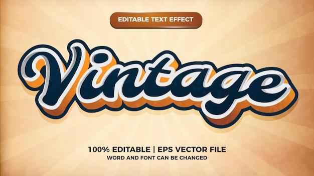 Современный винтажный редактируемый текстовый эффект. шаблон текстового стиля