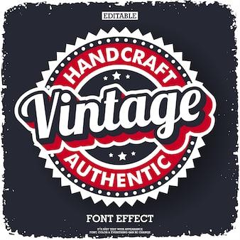 Modern vintage logo for company label