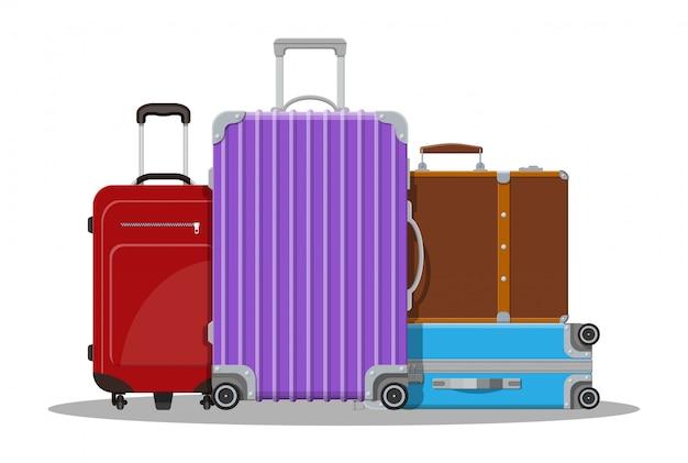 Modern and vintage travel bag.