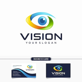 Modern vision logo and business card