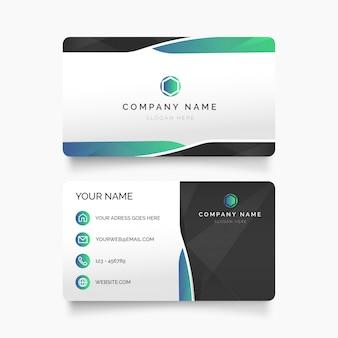 Modern visit card with abstract shapes