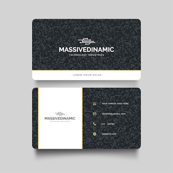 Modern visit card with minimal geometric shapes